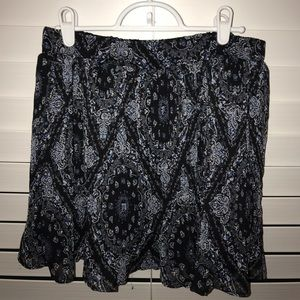 American Rag Floral Mini Skirt - Medium